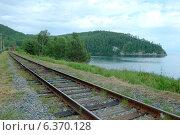 Купить «КБЖД, озеро Байкал», фото № 6370128, снято 21 августа 2014 г. (c) Некрасов Андрей / Фотобанк Лори