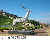 Купить «В Нижнем Новгороде торжественно открыли скульптуру оленя на Нижневолжской набережной», фото № 6370636, снято 7 сентября 2014 г. (c) Елена Ковалева / Фотобанк Лори