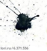 Купить «Черная клякса с брызгами», иллюстрация № 6371556 (c) Анна Павлова / Фотобанк Лори