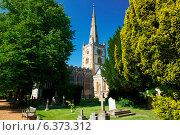 Купить «A view of Trinity Church and gardens», фото № 6373312, снято 23 июля 2019 г. (c) Ingram Publishing / Фотобанк Лори