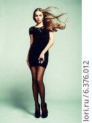 Купить «Portrait of young dancing girl with smart fair hair. Fashion photo», фото № 6376012, снято 26 июня 2019 г. (c) Ingram Publishing / Фотобанк Лори