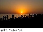 Закат на пляже (2012 год). Стоковое фото, фотограф Александр Антонников / Фотобанк Лори