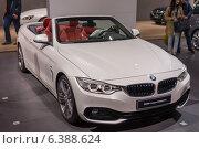 Купить «BMW 4 серии (кабриолет)», фото № 6388624, снято 3 сентября 2014 г. (c) Павел Лиховицкий / Фотобанк Лори