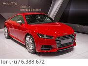 Купить «Красный автомобиль Audi TTS», фото № 6388672, снято 3 сентября 2014 г. (c) Павел Лиховицкий / Фотобанк Лори