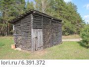 Купить «Дровница, сарай для хранения дров», фото № 6391372, снято 19 апреля 2014 г. (c) Татьяна Грин / Фотобанк Лори