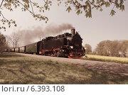 Купить «Исторический поезд на острове Рюген, Германия», фото № 6393108, снято 25 апреля 2014 г. (c) Аnna Ivanova / Фотобанк Лори