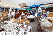 Купить «Mercat de Encants flea market in Barcelona, Catalonia», фото № 6394040, снято 26 июня 2013 г. (c) Яков Филимонов / Фотобанк Лори