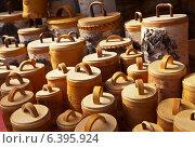 Купить «Берестяные туеса», фото № 6395924, снято 31 августа 2014 г. (c) Виктория Катьянова / Фотобанк Лори