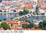 Купить «Панорама Праги», фото № 6396680, снято 11 сентября 2014 г. (c) Наталья Волкова / Фотобанк Лори