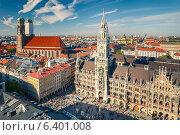 Купить «Aerial view on the historic center of Munchen», фото № 6401008, снято 23 марта 2019 г. (c) Sergey Borisov / Фотобанк Лори