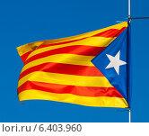 flag of Catalonia. Стоковое фото, фотограф Яков Филимонов / Фотобанк Лори