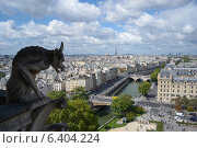 Купить «Горгулья на соборе Нотр-Дам, Париж», фото № 6404224, снято 31 августа 2014 г. (c) Екатерина Басова / Фотобанк Лори