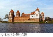 Купить «Средневековый замок в Мир, Беларусь», фото № 6404420, снято 27 апреля 2013 г. (c) Андрей Рыбачук / Фотобанк Лори