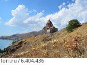 Купить «Армения, монастырь 1 века Севанаванк, Сурб Аракелоц», фото № 6404436, снято 10 сентября 2014 г. (c) Овчинникова Ирина / Фотобанк Лори