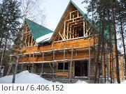 Строительство деревянного коттеджа (2009 год). Стоковое фото, фотограф Степанова М Е / Фотобанк Лори