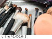 Купить «Набор с кисточками для косметики», эксклюзивное фото № 6406648, снято 12 июля 2014 г. (c) Игорь Низов / Фотобанк Лори
