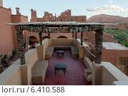 Terrace of a hotel, Kasbah Ellouze, Ouarzazate, Morocco (2012 год). Стоковое фото, агентство Ingram Publishing / Фотобанк Лори