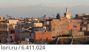 High angle view of buildings in a city, Medina, Marrakesh, Morocco (2012 год). Стоковое фото, агентство Ingram Publishing / Фотобанк Лори