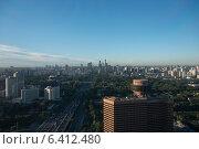 Купить «Aerial view of a city, Beijing, China», фото № 6412480, снято 3 сентября 2012 г. (c) Ingram Publishing / Фотобанк Лори