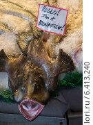 Купить «Monkfish on ice for sale at Pike Place Market, Seattle, Washington State, USA», фото № 6413240, снято 4 апреля 2013 г. (c) Ingram Publishing / Фотобанк Лори