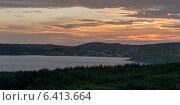 Ferryland Landscape at sunset, Calvert, Avalon Peninsula, Newfoundland And Labrador, Canada (2013 год). Стоковое фото, агентство Ingram Publishing / Фотобанк Лори