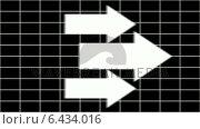 Купить «Arrows pointing across grid background», видеоролик № 6434016, снято 20 июля 2019 г. (c) Wavebreak Media / Фотобанк Лори