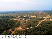 Аэросъемка, вид сверху на полигон Алабино. Стоковое фото, фотограф Марина Зубрицкая / Фотобанк Лори