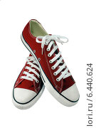 Купить «Молодёжные красные кеды», эксклюзивное фото № 6440624, снято 23 марта 2013 г. (c) Blekcat / Фотобанк Лори