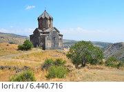 Купить «Церковь 11 века рядом с крепостью Амберд в Армении», фото № 6440716, снято 13 сентября 2014 г. (c) Овчинникова Ирина / Фотобанк Лори
