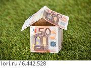 Купить «House From Euro Money On Grassy Land», фото № 6442528, снято 22 марта 2014 г. (c) Андрей Попов / Фотобанк Лори