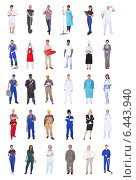 Купить «Multiethnic People With Various Occupations», фото № 6443940, снято 21 января 2020 г. (c) Андрей Попов / Фотобанк Лори