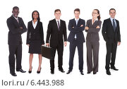 Купить «Portrait Of Confident Business Team», фото № 6443988, снято 2 июня 2020 г. (c) Андрей Попов / Фотобанк Лори