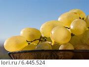 Гроздь винограда на фоне синего неба. Стоковое фото, фотограф VahanN / Фотобанк Лори