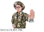 Купить «Funny soldier in military concept», фото № 6451796, снято 10 января 2014 г. (c) Elnur / Фотобанк Лори