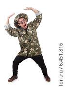 Купить «Funny soldier in military concept», фото № 6451816, снято 10 января 2014 г. (c) Elnur / Фотобанк Лори