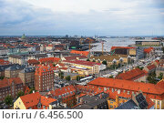 Купить «The bird's eye view from the Church of Our Saviour on Copenhagen.», фото № 6456500, снято 22 августа 2014 г. (c) Serg Zastavkin / Фотобанк Лори