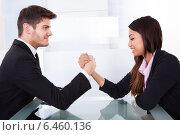 Купить «Business Colleagues Arm Wrestling», фото № 6460136, снято 9 марта 2014 г. (c) Андрей Попов / Фотобанк Лори