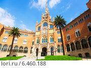 Купить «Hospital de la Santa Creu i Sant Pau in Barcelona», фото № 6460188, снято 27 февраля 2020 г. (c) Яков Филимонов / Фотобанк Лори