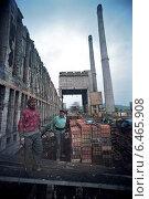 Купить «Deconstruction of a ruined coking plant in Calan, Romania», фото № 6465908, снято 25 сентября 2005 г. (c) Caro Photoagency / Фотобанк Лори