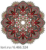 Купить «Круглый растительный орнамент», иллюстрация № 6466324 (c) Олеся Каракоця / Фотобанк Лори