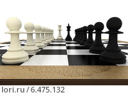 Купить «White and black pawns facing off with king and queen», фото № 6475132, снято 3 августа 2020 г. (c) Wavebreak Media / Фотобанк Лори
