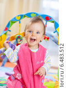 Купить «Little girl while playing.», фото № 6483512, снято 18 октября 2018 г. (c) BE&W Photo / Фотобанк Лори