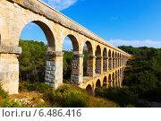 Roman aqueduct in Tarragona (2013 год). Стоковое фото, фотограф Яков Филимонов / Фотобанк Лори