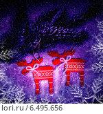 Купить «Новогодняя декорация», фото № 6495656, снято 2 января 2014 г. (c) ElenArt / Фотобанк Лори