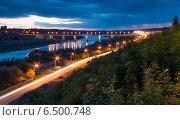 Калуга, набережная и Гагаринский мост (2014 год). Стоковое фото, фотограф Эдуард Сычев / Фотобанк Лори