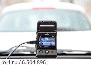 Купить «Видеорегистратор автомобильный Gmini MagicEye HD300 в работе», фото № 6504896, снято 31 января 2013 г. (c) Олег Пчелов / Фотобанк Лори