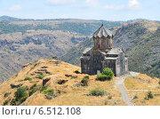 Купить «Армения, церковь 11 века рядом с крепостью Амберд», фото № 6512108, снято 13 сентября 2014 г. (c) Овчинникова Ирина / Фотобанк Лори