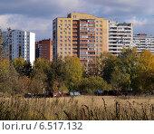 Современный кирпичный жилой дом в Троицке, город Москва (2014 год). Стоковое фото, фотограф SevenOne / Фотобанк Лори