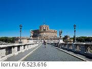Замок Святого Ангела в Риме (2014 год). Редакционное фото, фотограф Валерия Лузина / Фотобанк Лори