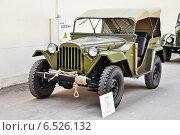 Купить «ГАЗ-67-Б на ВДНХ», эксклюзивное фото № 6526132, снято 12 августа 2014 г. (c) Алёшина Оксана / Фотобанк Лори